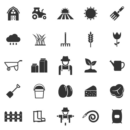 sprinkling: Farming icons on white background
