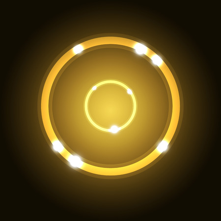 gold circle: Abstract background with gold circle, stock vector