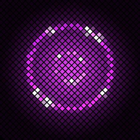 violet background: Mosaico astratto con sfondo viola, Stock Vector Vettoriali