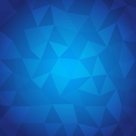 Abstract triangle with blue background, stock vector Vector