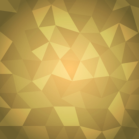 Abstract triangle with yellow background, stock vector Vector