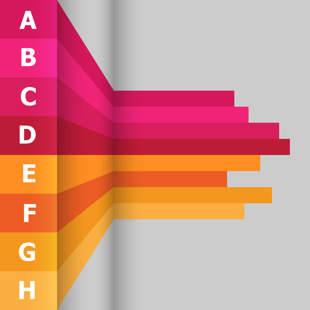 design abstract: Horizontal banner with colorful lines, stock vector