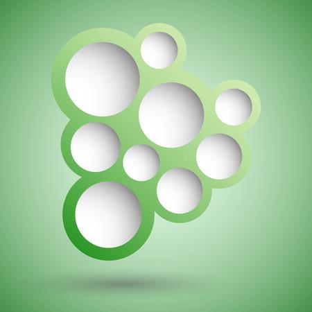 bubble background: Estratto verde discorso bolla sfondo, Stock Vector