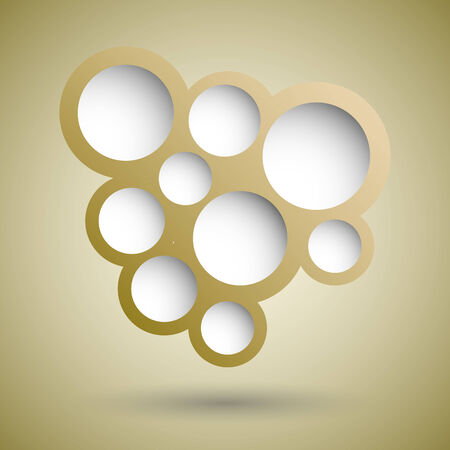bubble background: Abstract gold speech bubble background, stock vector