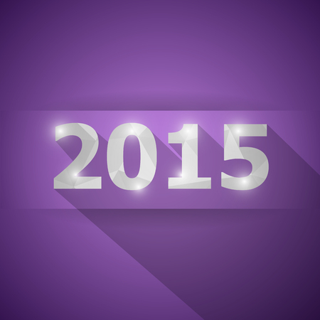 2015 with abstract triangle violet background, stock vector Vector