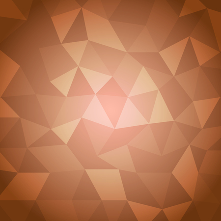 Abstract triangle with orange background, stock vector Vector