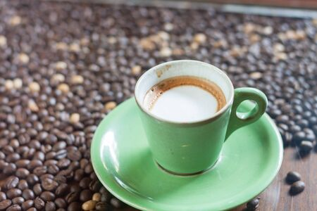 Coffee cup with micro foam, stock photo
