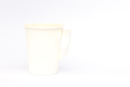 takeout: Take-out coffee cup isolated on white background, stock photo