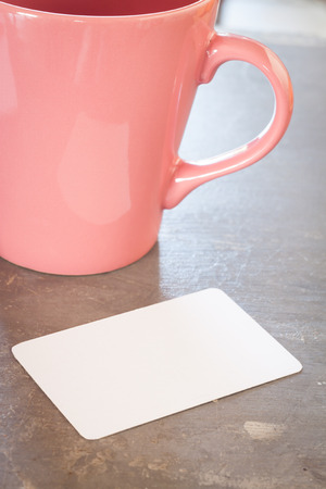 businesscard: Name card with coffee cup, stock photo