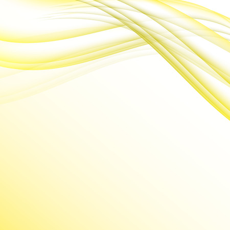elegantly: Yellow and white waves modern futuristic abstract background Illustration
