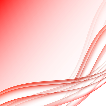 elegantly: Red and white waves modern futuristic abstract background Illustration