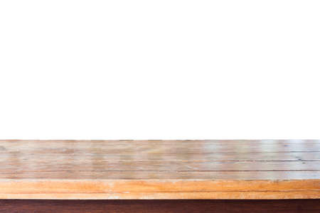 ligneous: Empty old wooden table top, stock photo