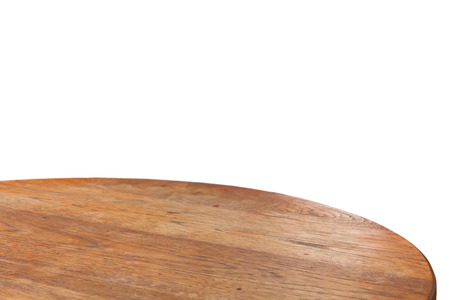 Empty round wooden table top, stock photo