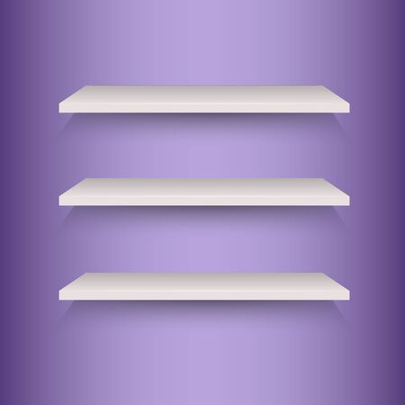 book shelves: Book shelves on violet background
