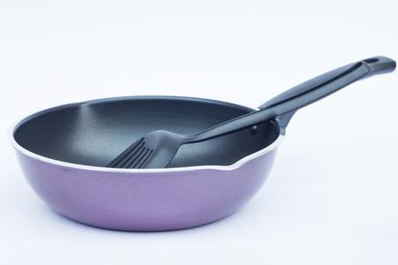 non stock: Non stick frying pan on white background, stock photo