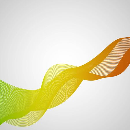 abstact: Abstact green and orange wave background