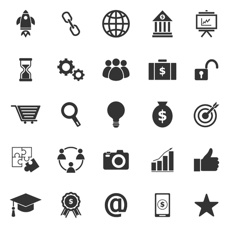 Start up icons on white background, stock vector