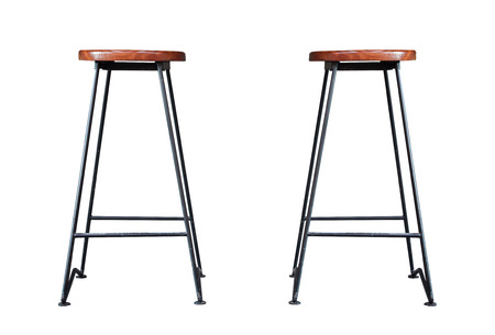 Bar stool isolated on white background, stock photo