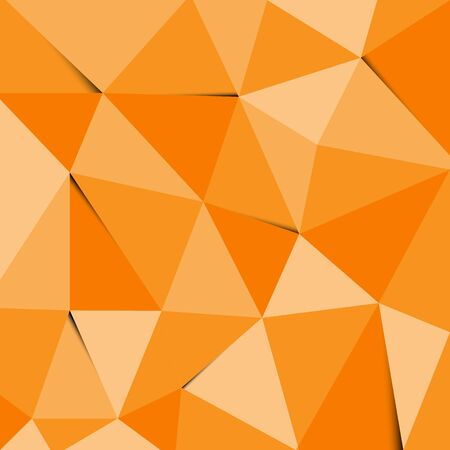 dimension: Orange polygon abstract triangle background