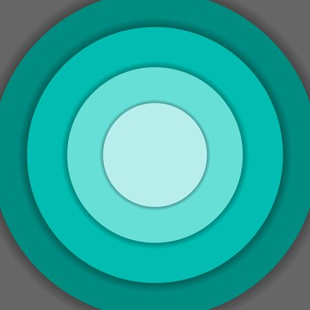 material: Green circle material design background Illustration