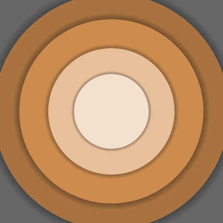 material: Brown circle material design background Illustration