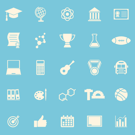 toga: College color icons on blue background Illustration