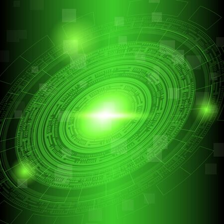 Abstract dark green technology background, stock vector