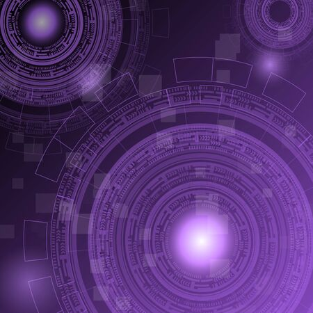 torrent: Abstract dark purple technology futuristic background, stock vector Illustration