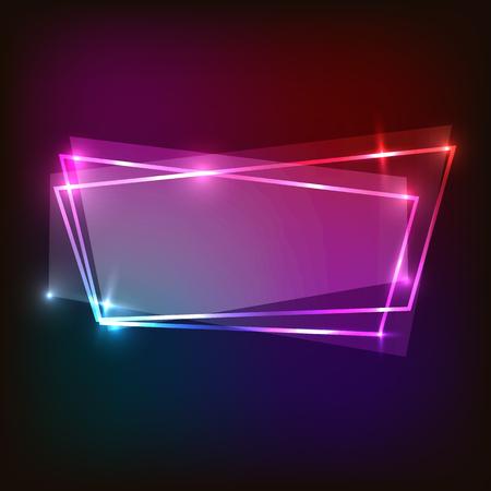Abstracte neonachtergrond met kleurrijke banner, voorraadvector
