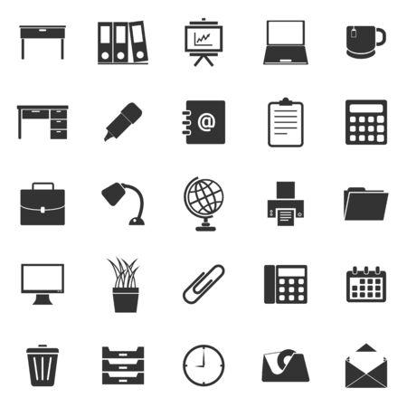 Workspace icons on white background. Illustration