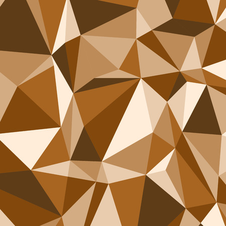 Brown polygon abstract triangle background, stock vector Illustration
