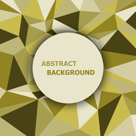 Yellow polygon abstract triangle background, stock vector Illustration
