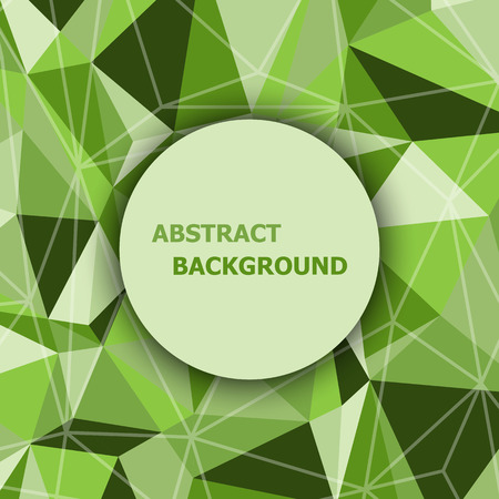 Green polygon abstract triangle background, stock vector Illustration