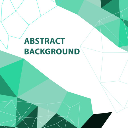 Abstract green geometric background with polygon design, stock vector