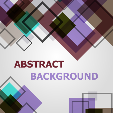 Abstract square geometric pattern design background, stock vector 일러스트
