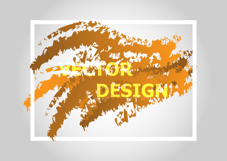 Abstract background with orange gradient, stock vector