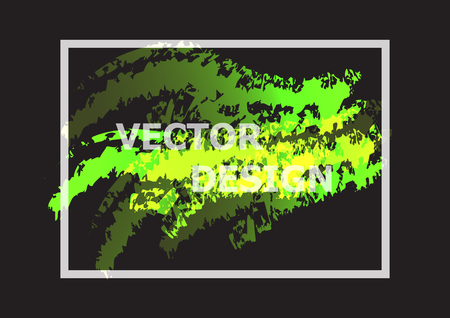 Abstract background with green and yellow gradient, stock vector