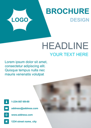 Brochure template flyer background design for business. Editable A4 poster