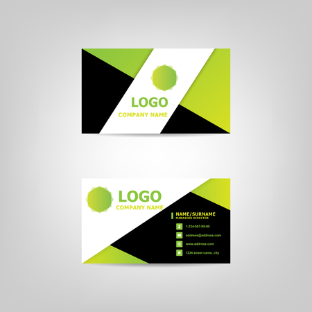 Business card modern design template, stock vector