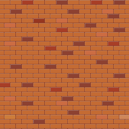 Red brick wall abstract background, stock vector
