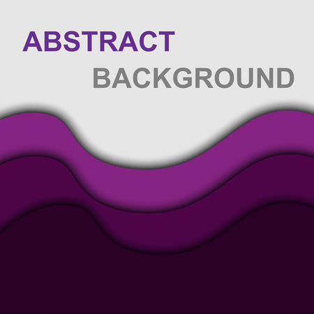 Violet curve shape abstract background, stock vector Stock Vector - 110675507