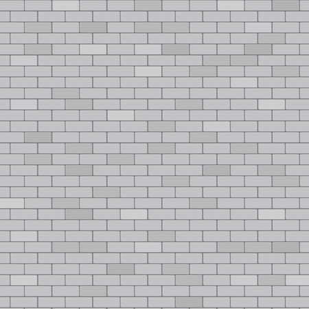 Gray brick wall abstract background, stock vector  イラスト・ベクター素材
