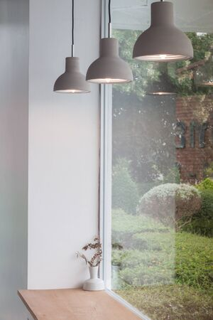 Beautiful retro light lamp decorated glowing