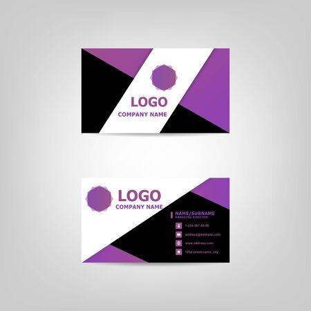 Modern business card design template 向量圖像