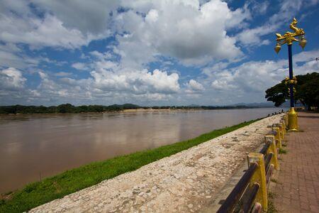 khong river at chang khan,Thailand photo