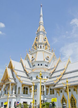 Great gray church in Chacherngsao province  Thailand Stock Photo - 13721252