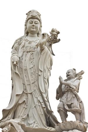 Goddess of mercy Guan yin statue in chinese temple, Bangkok photo