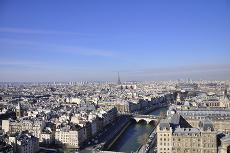 Paris view from Notre dame, France Stock Photo