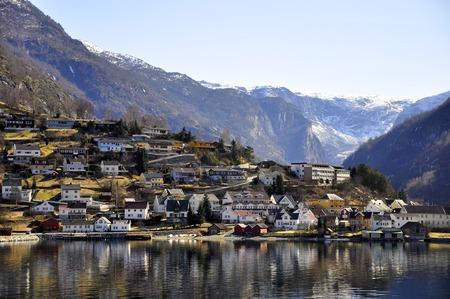 A town in Gudvangen fjord cruise, Norway