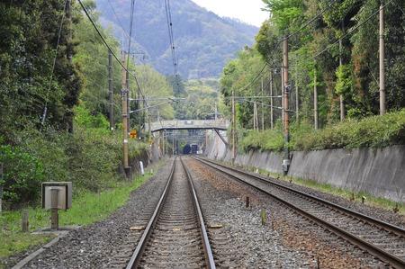 train railway, Arashiyama